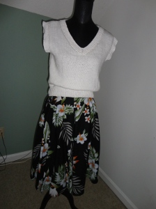 Cotton Floral Vintage Skirt as before
