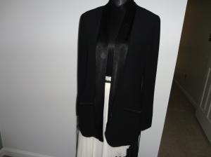 Black Light Weight Dinner Jacket with Satin Lapels and Black Dressing Gown Cord Belt $15