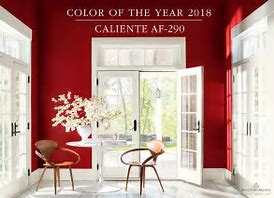 Benjamin Moore colour 2018 red