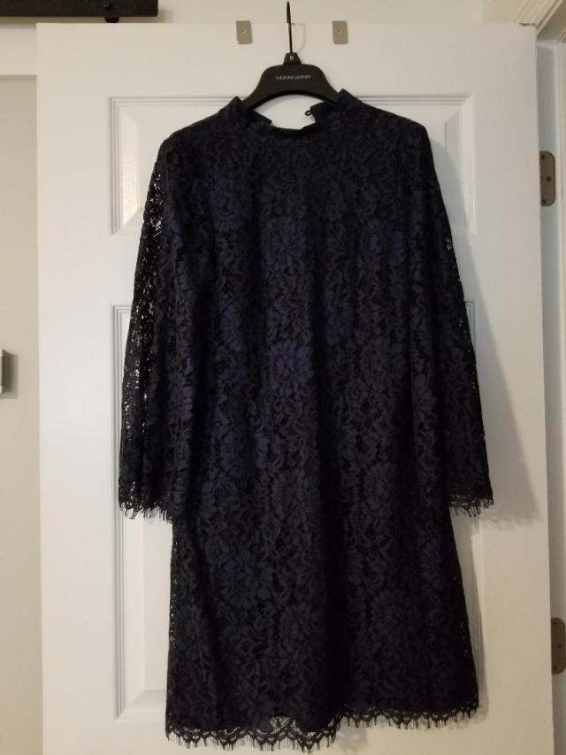 navy lace ddress